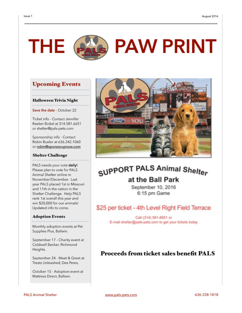 Newsletter_PALS Paw Print Updated Ball Park PDF